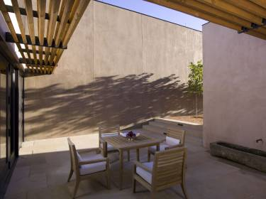 The Mesa at Amangiri - Utah - Exterior photo of entry courtyard - Selldorf Architects