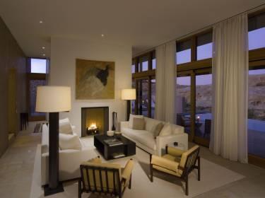 The Mesa at Amangiri - Utah - Interior photo of living room - Selldorf Architects