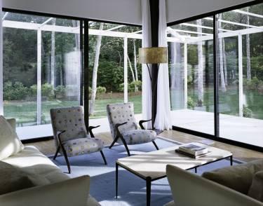 Wainscott House - Long Island - Interior photo of living room - Selldorf Architects