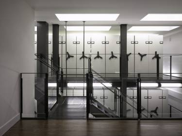 NYU Institute for the Study of the Ancient World - New York - Interior photo of new library shelves - Selldorf Architects
