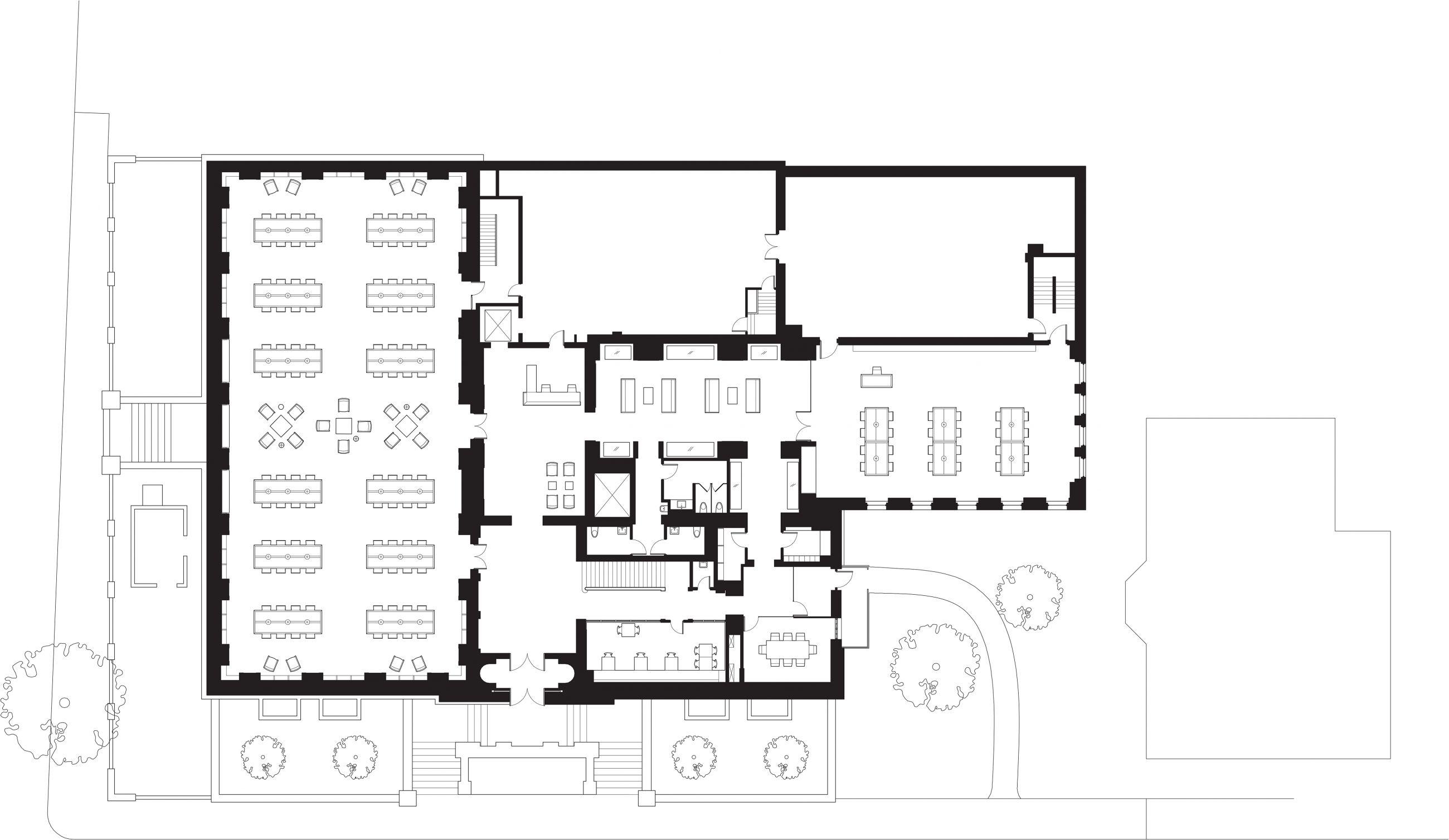 Brown University John Hayes Library Ground Floor Plan