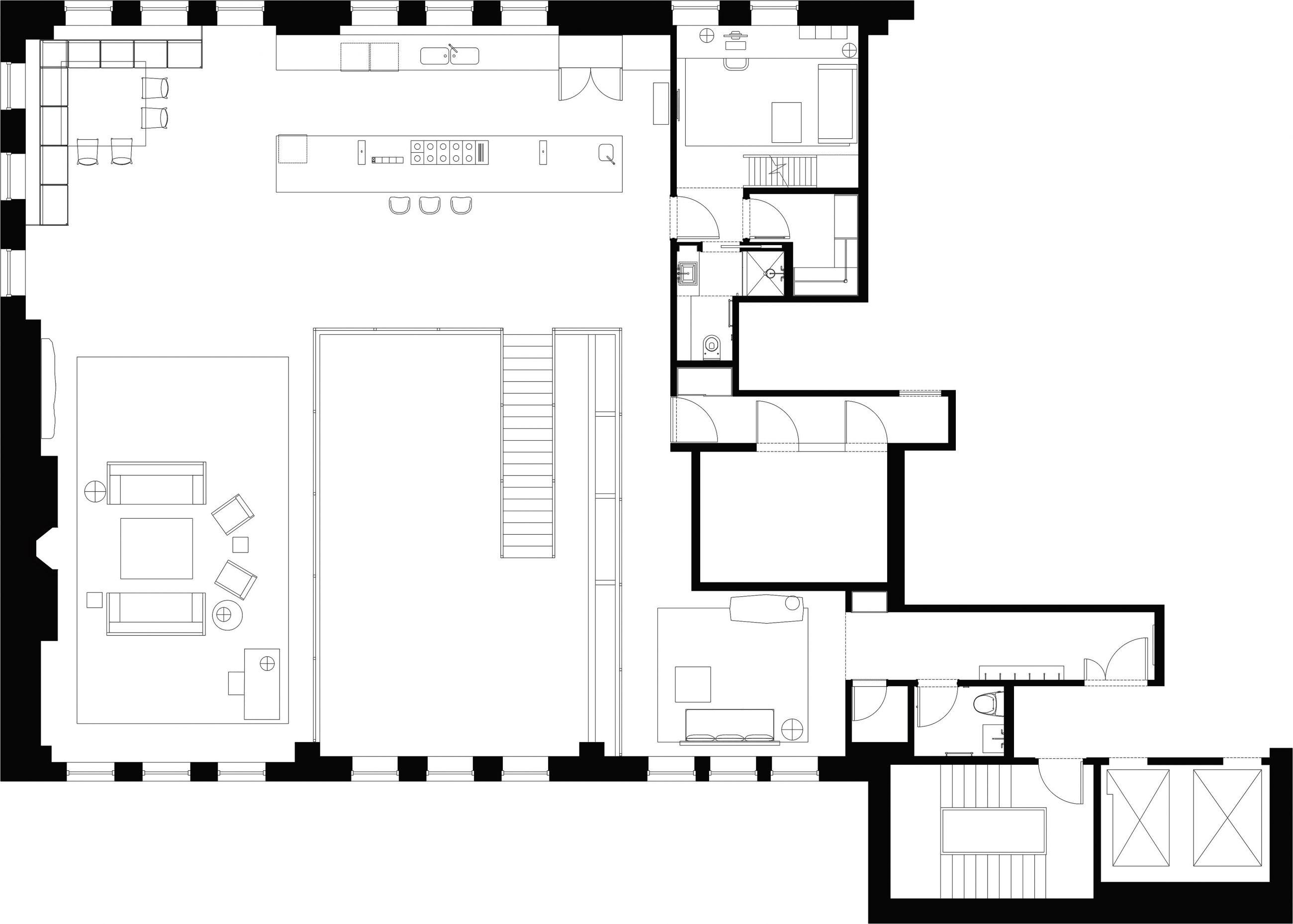 Chelsea Loft 2nd Floor Plan