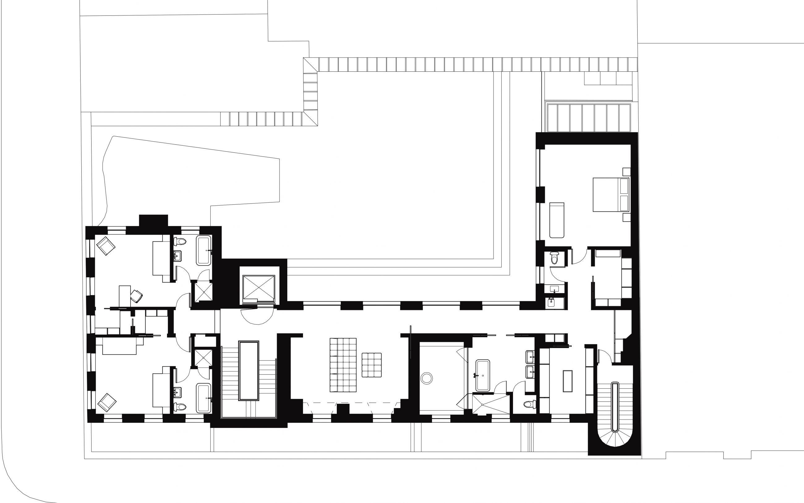 West Village Residence 3rd Floor Plan