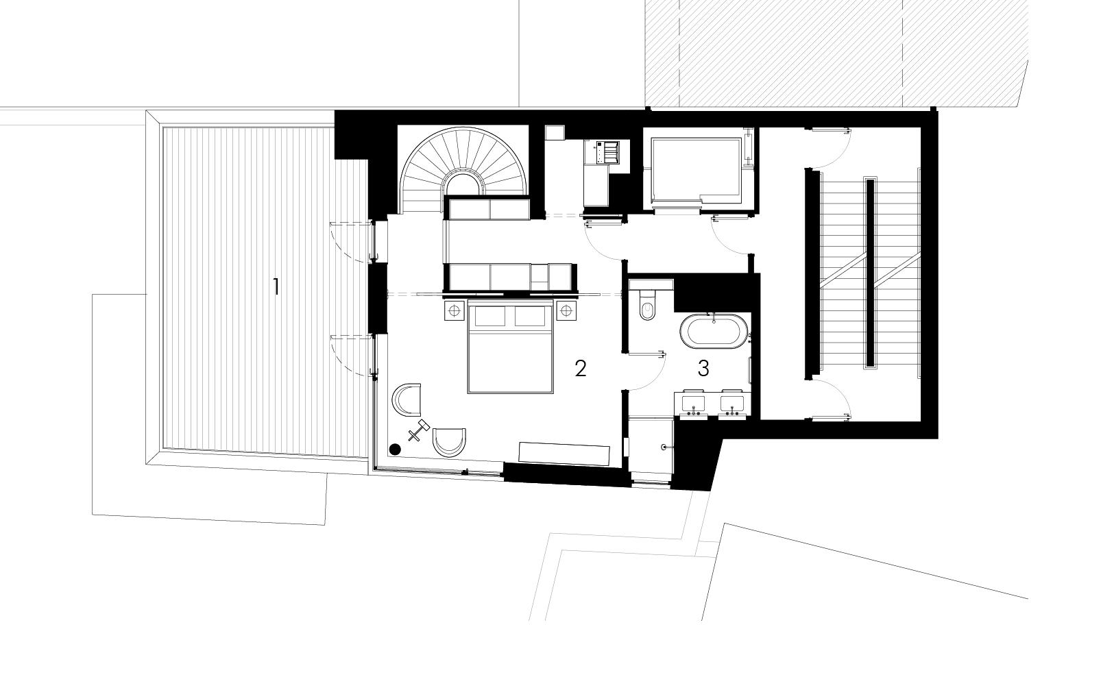 347 Bowery, Triplex third floor, Selldorf Architects