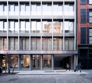 42 Crosby Street exterior entrance, garage, porte-cochere, Selldorf Architects, SoHo, New York City, Architecture, windows, residential, condos